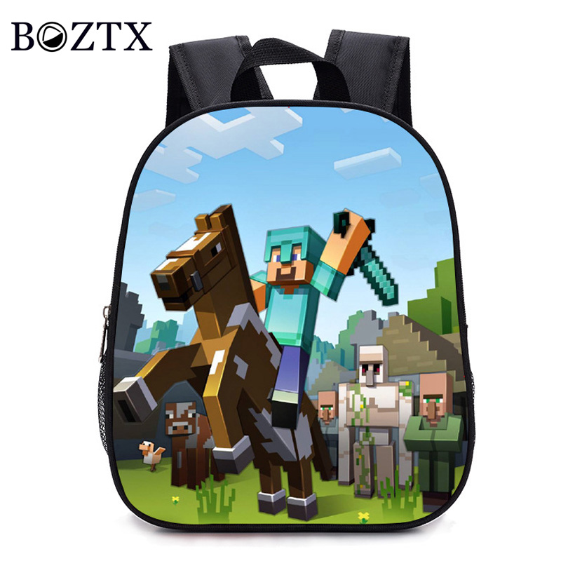 2019 Children Backpacks Kindergarten Backpack Boy Cute Mine Craft Cartoon Backpack Hot Game Backpack School Bags Boys And Girls