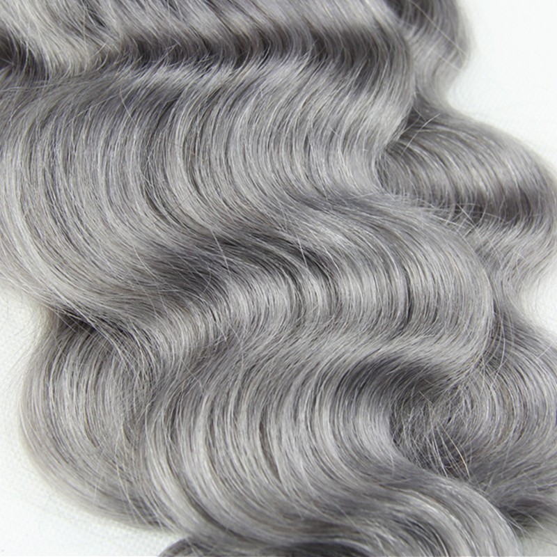 Full-Shine-Brazilian-Real-Human-Hair-3-Bundles-With-Lace-Closure-Color-1B-Ombre-Silver-Body (1)