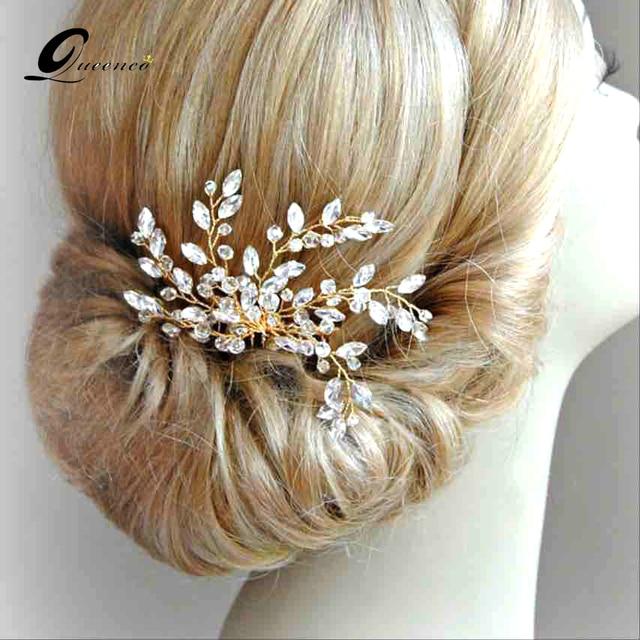 gold silver hairpins hair combs wedding hair accessories crystal bridal hair comb hair clips for