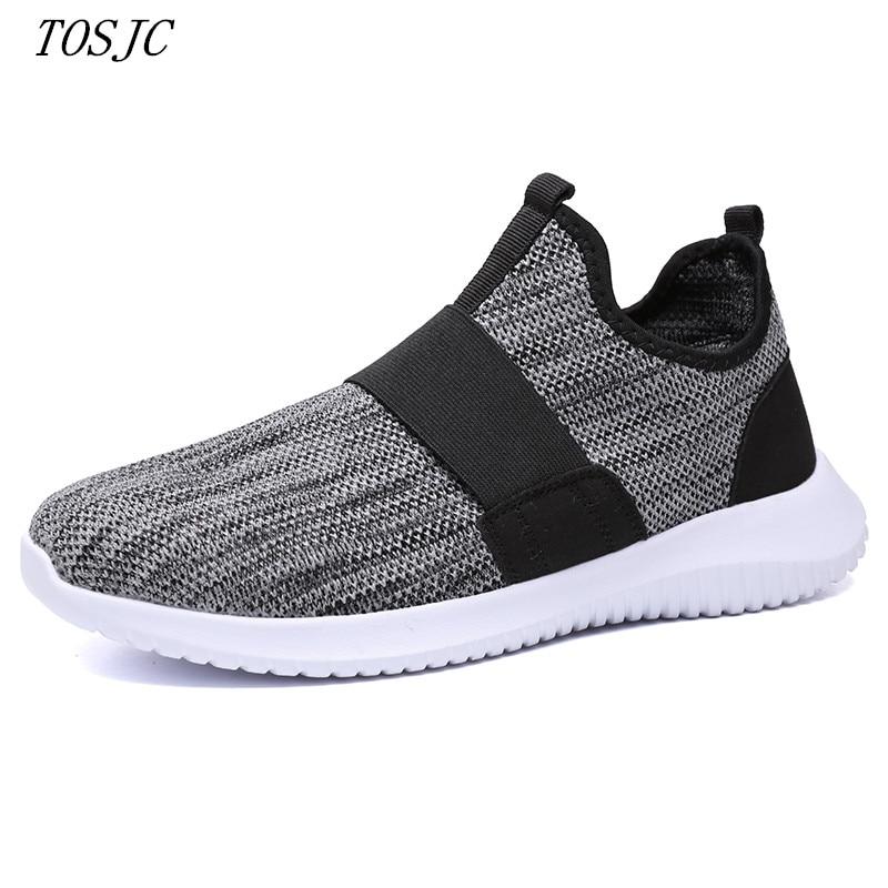Schuhe Tosjc Mann Mode Lässig Loafer Zapatos Hombre Licht Gewicht Atmungsaktive Teenager Schuhe Schwarz Farbe Sommer Loafer Erwachsene Geschickte Herstellung
