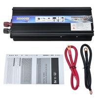 Car Power Inverter DC 12V To AC 220V 2000W Vehicle USB Adapter Converter Car Inverter Power