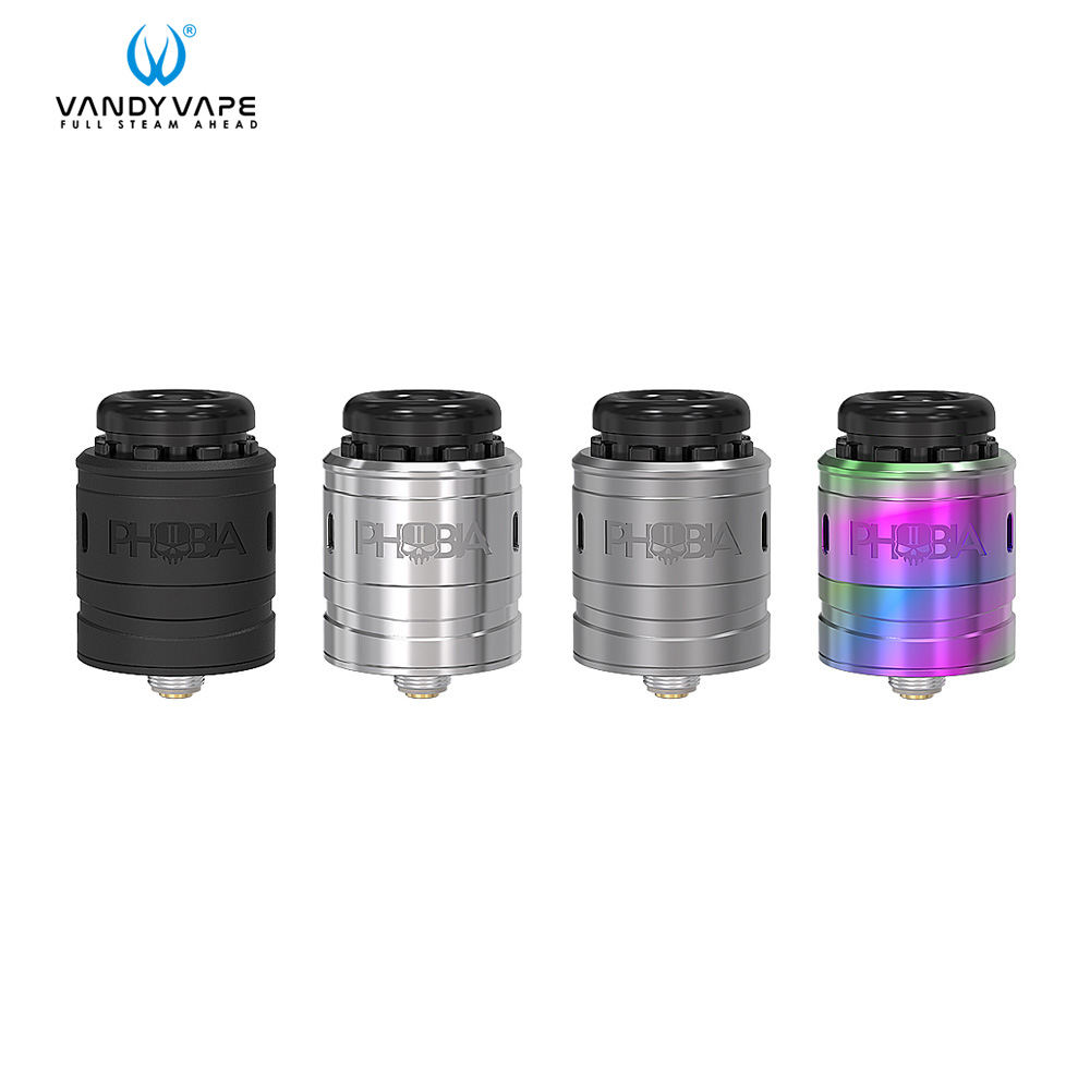 Atomiseur Original de Vape de Vandy Phobia V2 RDA 1 ml réservoir de Vape Cigarette électronique ajustement simple double bobine 510 Mod vape cartouche 510