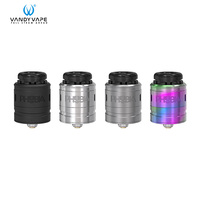 Original Vandy Vape Phobia V2 RDA Atomizer 1ml Vape Tank Electronic Cigarette fit Single Dual Coil 510 Mod vape cartridge 510