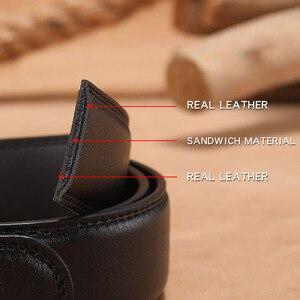 Image 5 - MINGLILONG Bestsale الفاخرة العلامة التجارية الذكور أحزمة أحزمة جلد طبيعي للرجال عالية الجودة Pasek الأسود التلقائي مشبك الأحزمة
