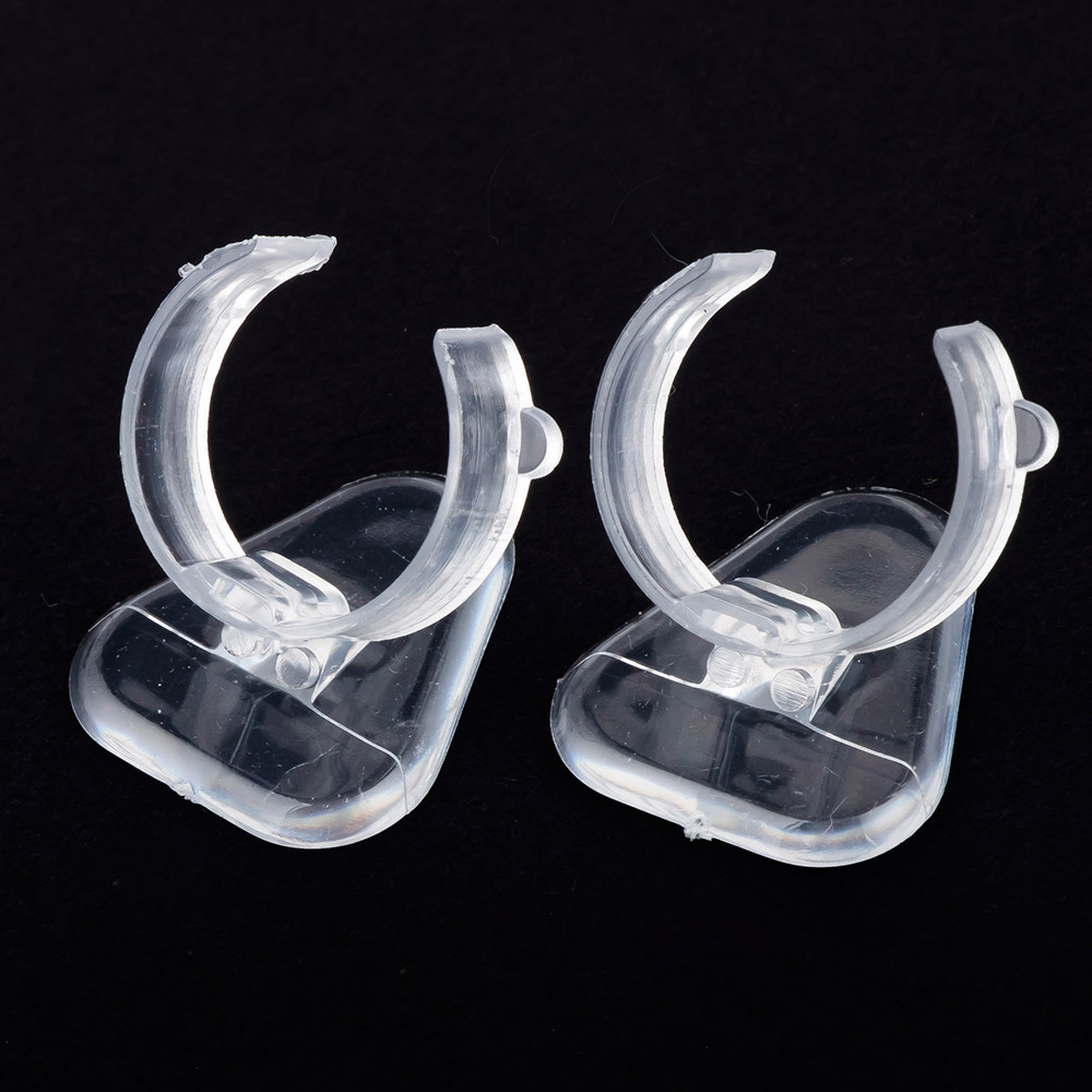 5 pcs Mini Transparent Clear Plastic Ring Stand Holder Jewelry Display