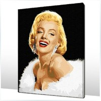 DIY digital oil painting Paint By Photo decoration gift Unique number 40x50cm pretty Marilyn Monroe Framed Painting