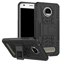 For Motorola MOTO Z2 Play 2017 Case PC + Silicone Heavy Duty Anti Shock Rugged 3D Armor Case For Moto Z 2 Play Back Cover Cases for motorola moto z2 play phone bag case for moto z2 play luxury crocodile skin pu leather protective case cover moto z 2 play