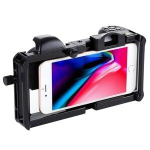 Image 2 - Universel 6.0 Smartphone stabilisateur plate forme poignée professionnel 0.45X Super grand Angle Macro objectif téléphone vidéo steeryam monture pour support