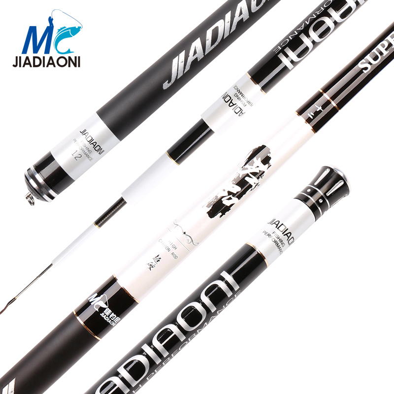 JIADIAONI 99.99% Carbon Fiber Stream Fishing Rod Telescopic Fishing Pole Carp Feeder Spinning Rod 3.6m 4.5m 5.4m 6.3m 7.2m jiadiaoni carbon fiber 3 6m 4 5m 5 4m 6 3m long telescopic spinning carp fishing rod ice fly fishing fishing rod fishing tackle