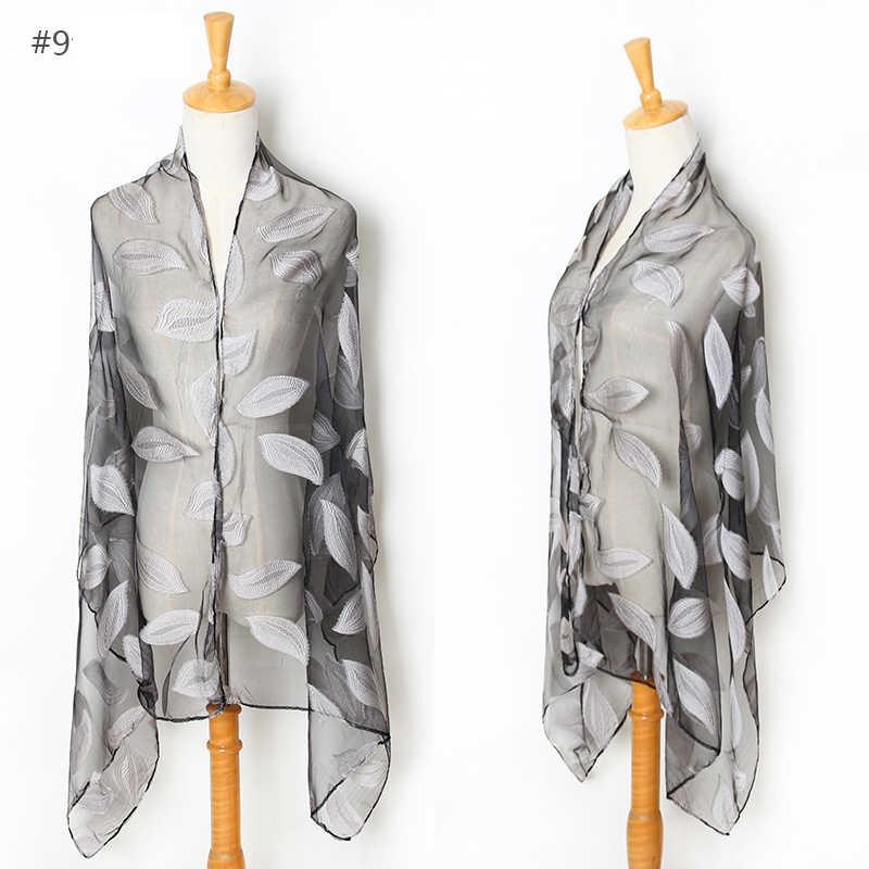 Брендовый дизайнерский Универсальный шарф женский органза модная Вышитая Шаль