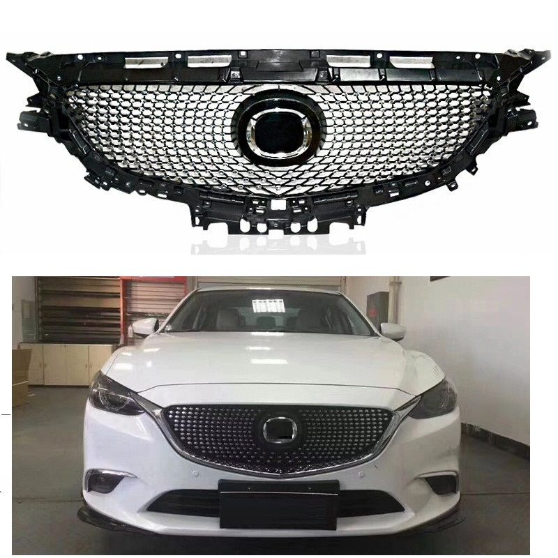 CAR STYLING FRONT RACING GRILLE GRILLS FRONT BUMPER MASK FIT FOR MAZDA 6 ATENZA AUTO GRILL ACCESSORIES