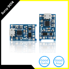 2PCS Micro USB 5V 1A 18650 TP4056 Lithium Battery Charger Module Charging Board With Protection Dual Functions