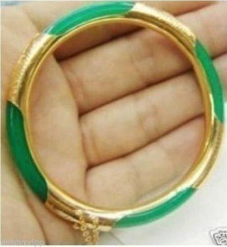 Hot selling free shipping********Charming Green Jade Bracelet Bangle