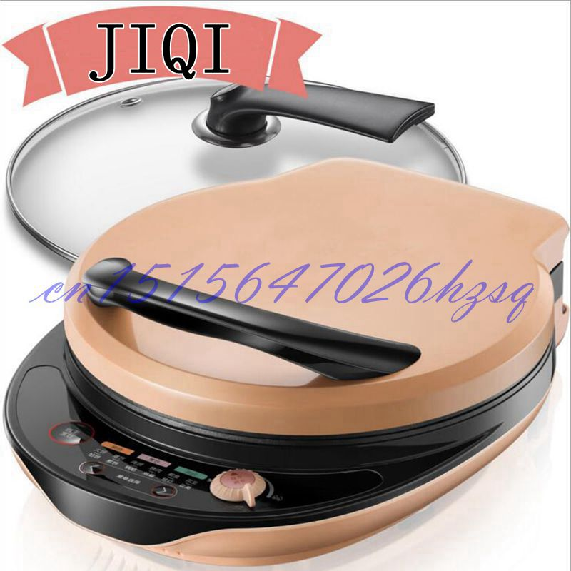 JIQI 1300W Household Multi function Electric Skillet baking pan double heating machine Pancake makers Hover jiqi baking pan suspended double side heating pancake machine flapjack cake household electric barbecue pie machine 1200w
