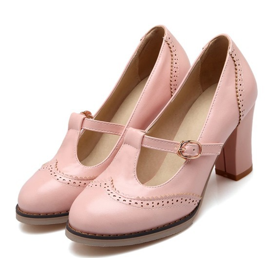ФОТО Large size43 fashion platform shoes round toe soft pu leather high heels women pumps ladies summer prom wedding shoes for woman