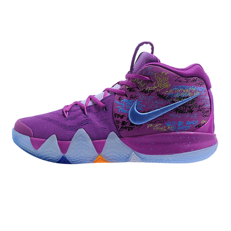 5f9e3511858bf ... coupon code for aliexpress buy nike kyrie 4 irving 4th generation  confetti mens basketball shoespurple shock