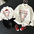 family look mother boy father sons shirts long sleeve white autumn new arrival 2016 fashion clothes for boys