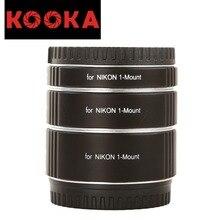 KOOKA KK-NM47 Copper AF Extension Tube Set TTL Exposure Close-up Image for Nikon 1-Mount Mirrorless Cameras (10mm 16mm 21mm)