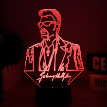 Johnny Hallyday Table Night Light Bedside LED USB Touch RGB 7 Color Changing 3D Lamp Illusion Singer Baby Decorative Lamp Decor 3d visual illusion camping bus led lamp transparent acrylic night light led lampa 7 color changing touch table bulbing room lamp