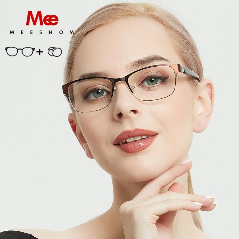 MEESHOW titanium alloy prescription glasses frame women s glasses cat eye glasses 2019 myopia denmark glasses