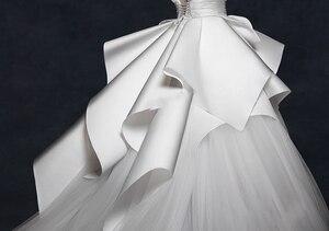 Image 4 - Vintage 2018 Wedding Dresses Ruffles Ruched Elegant Bridal Gowns V neck Backless High End  Wedding Gowns Vestido De Noiva