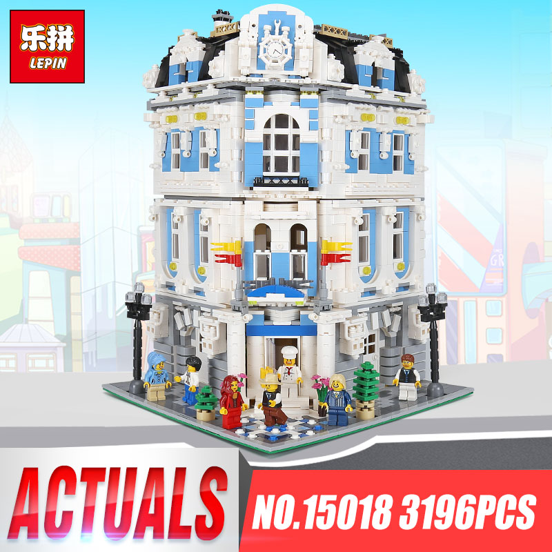 купить Lepin 15018 3196pcs MOC City Series The Sunshine Hotel legoing Set Creator Building Blocks Bricks Educational Toys for Children по цене 6731.75 рублей