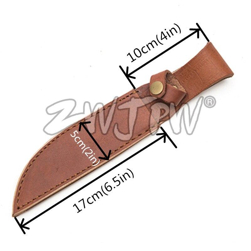 ᗐAl aire libre cuchillo envoltura de cuero cubierta de ...