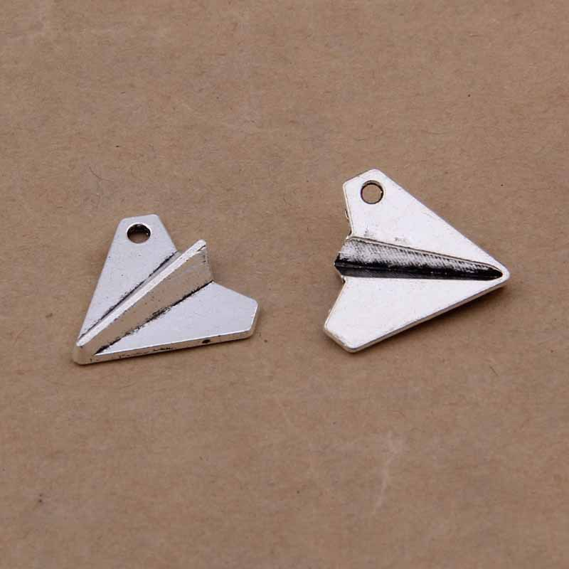 Daisies 18*19mm 150pcs Antique Silver Paper Airplane Charms Pendants Fashion Jewelry DIY Jewelry Making Handmade