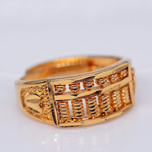 Gold Abacus Ring Opening For Women Men Party Gift Brass Gilded Wishful In Jewelry Vintage Fashion Gifts Color