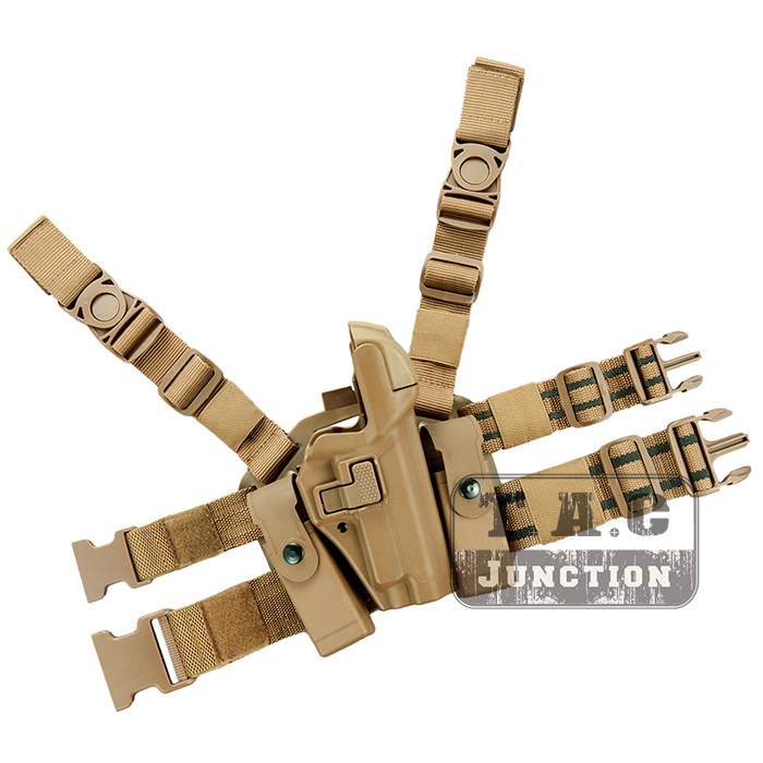 Tactical Serpa Concealment Level 3 Retention Auto Lock Duty Right Hand Drop Leg Thigh Pistol Holster for Sig Sauer P226 P229