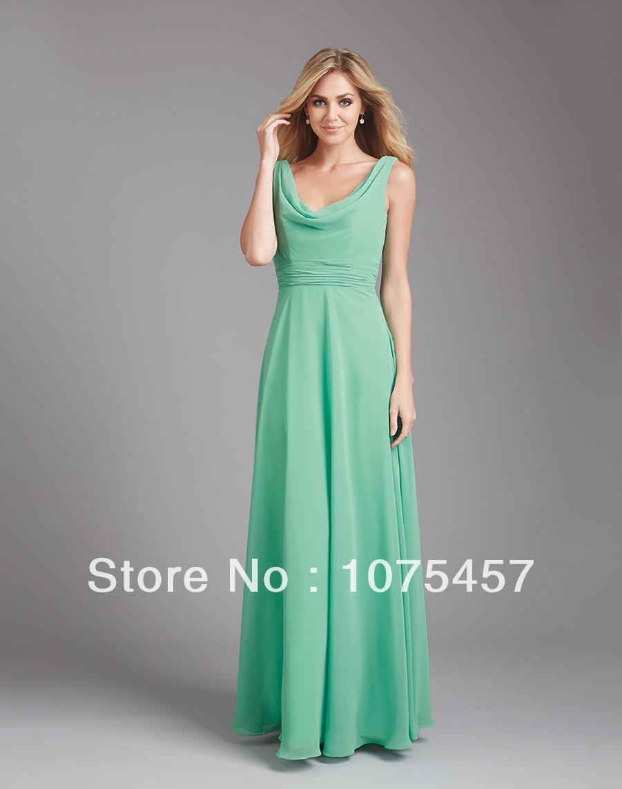 Maxi chiffon bridesmaid dresses
