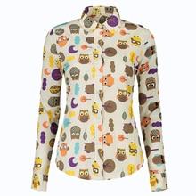 Fashion Women Work Wear Vintage Floral Blouses Long Sleeve Elegant Casual Soft Shirts Chemise FemmeTops Plus Size Blusa