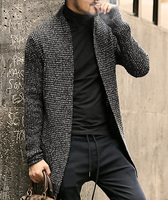 2018 Mens Fashion Sweater Long Sleeve Cardigan Males Pull style Thick warm Mohair Sweaters