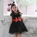 Summer New Baby Girl Lace Dress For Party Birthday Cartoon Mouse Bow 3-8 Age Girls Kids Princess Infant Clothes Vestido