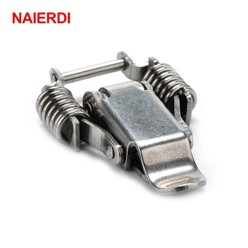 05aef72f1e35 3PCS NAIERDI J108 Mild Steel Cabinet Boxes Hasp Lock 67 24 Spring Loaded  Latch Catch Toggle Locks For Sliding Window Hardware