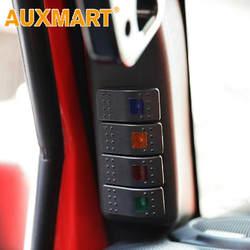 Auxmart автомобиль левый столб 4 кулисный переключатель Pod панель комплект для Jeep Wrangler JK автомобильный переключатель панели светодио дный