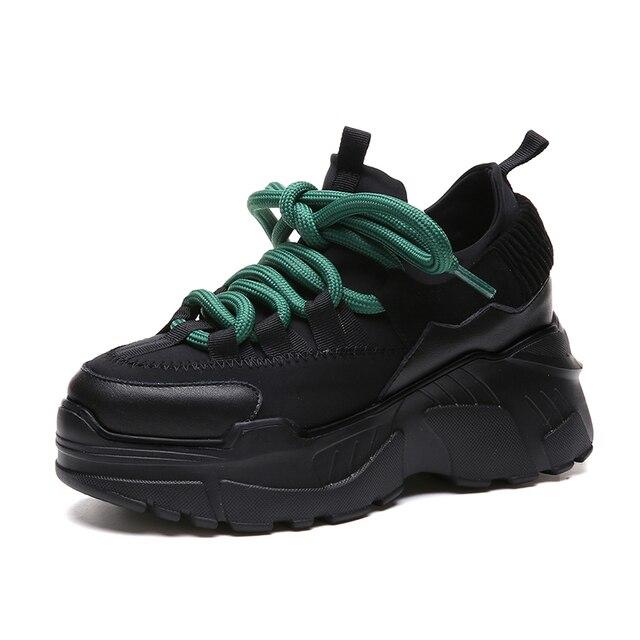 2018 Yeni Yüksekliği Artan Kadın koşu ayakkabıları Stil Atletik Sneakers Kadın Rahat yürüyüş ayakkabısı Zapatillas Mujer