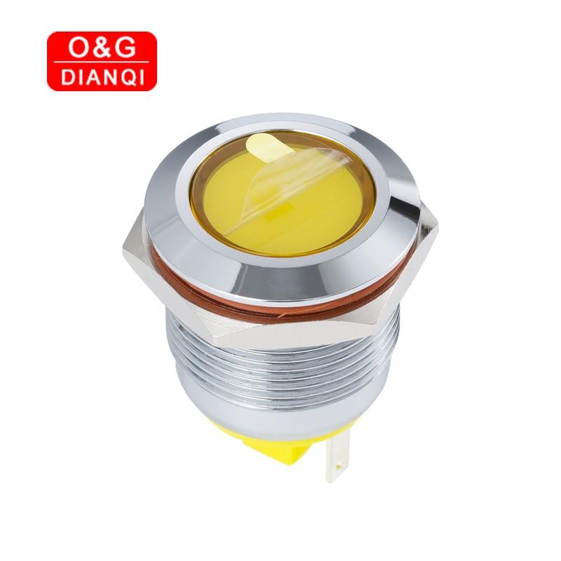 Creative 19mm Twinkle Metal Led Indicator Light 6v 12v 220v Led Waterproof Flashing Blink Pilot Signal Lamp LED Pilot Lights