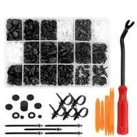 VODOOL 415Pcs/Set Auto Car Vehicle Body Plastic Push Pin Rivet Fasteners Trim Clip Car Repair Assortment Kit For BMW GM Toyota