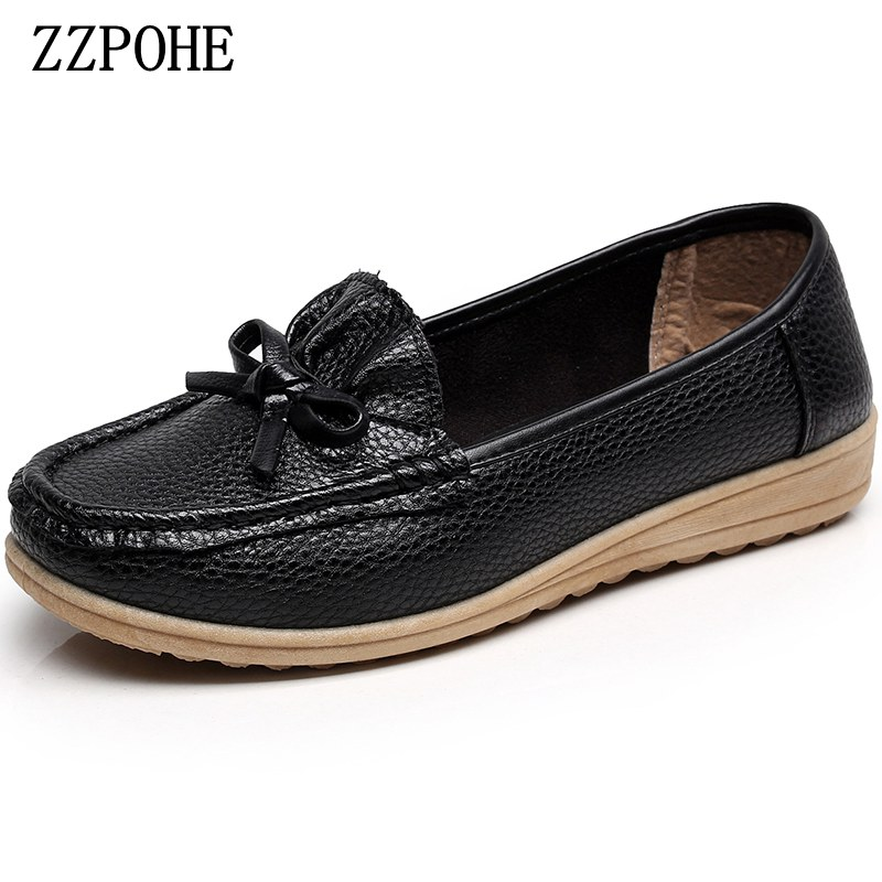 ZZPOHE Spring pointed solid color single shoes mother flat black shoes shallow mouth leisure non-slip women Peas shoes size 41 the black eyed peas the black eyed peas the beginning 2 lp