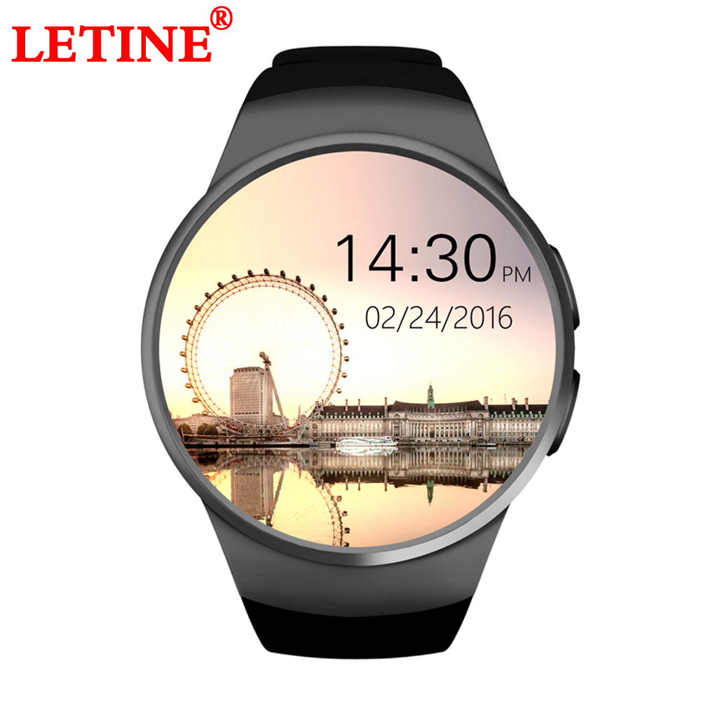 LETINE KW18 Touch Screen Smart Watches Phone Bluetooth Wrist Watch Smartfone with Heart Rate Sport Watch