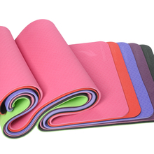 FANGCAN FCY-32 TPE Yoga Mat Double Layer 1830*610*8mm Prolong Yoga Mat Eco-friendly Mat for Beginners 5 colors available