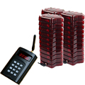 QUCIKBELL Wireless Paging Queuing System, queue management, coaster pager and number waiting system with 1transmitter+30receiver