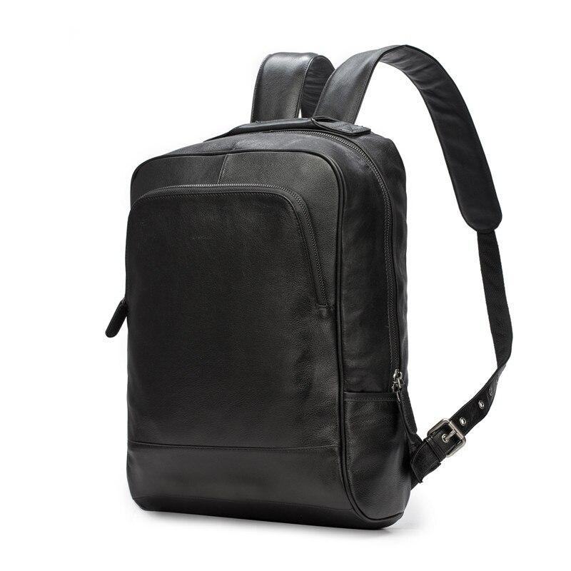 Nesitu High Quality Black Real Skin Nappa Genuine Leather Women Men Backpacks Cowhide Male Travel Bags M2107Nesitu High Quality Black Real Skin Nappa Genuine Leather Women Men Backpacks Cowhide Male Travel Bags M2107