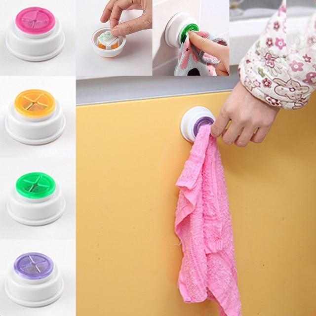 Nova 2 peça lavanderia pasta de armazenamento clipe pano pano de prato da cozinha banheiro gancho de toalha gancho ventosa chaleira destacável M4