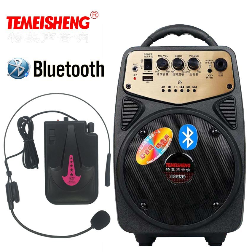 Bluetooth динамик высокой мощности 20 Вт громче, чтобы повесить беспроводной микрофон открытый Портативная колонка голос Amplifers колонка