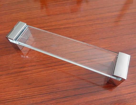 6 3 Acrylic Dresser Pulls Drawer Pull Knobs Glass Look Clear Silver