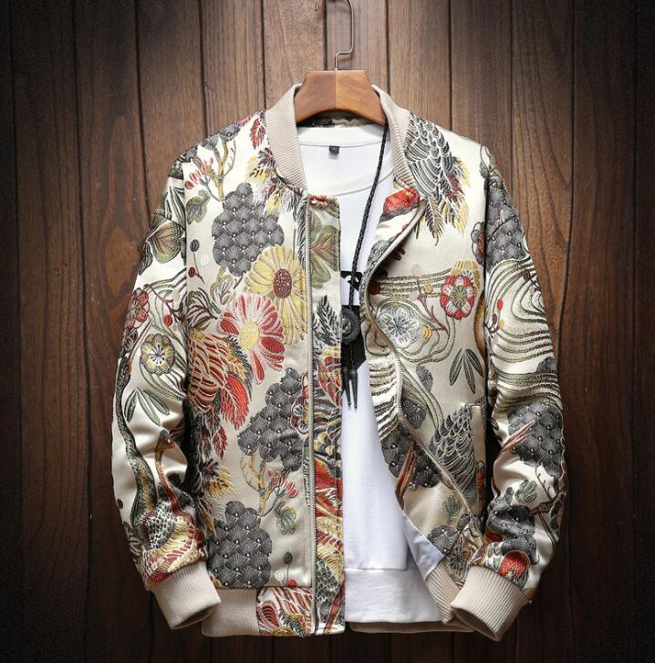 Broderie japonaise hommes veste manteau homme Hip Hop Streetwear hommes veste manteau Bomber veste hommes vêtements 2019 Sping nouveau