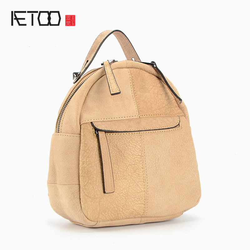 AETOO New leather shoulder bag vintage Europe and the United States retro fashion small head layer of leather backpack пена монтажная макрофлекс 750 мл