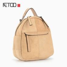 AETOO Новый кожаный мешок плеча старинные Европа и соединенные Штаты ретро моды маленькая голова слой кожи рюкзак